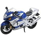 スカイネット 1/12 完成品バイク SUZUKI GSX1300R ハヤブサ (ブルー)