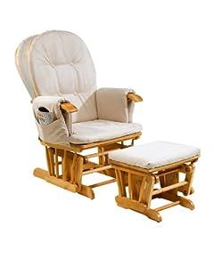 Tutti Bambini GC35 Reclinable Glider Chair and Stool (Beech) by Tutti Bambini
