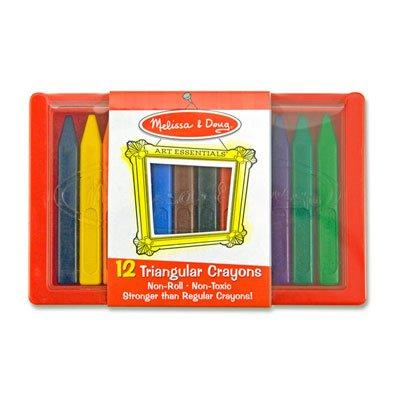 Melissa & Doug Educational Toy 12 Triangular Crayons