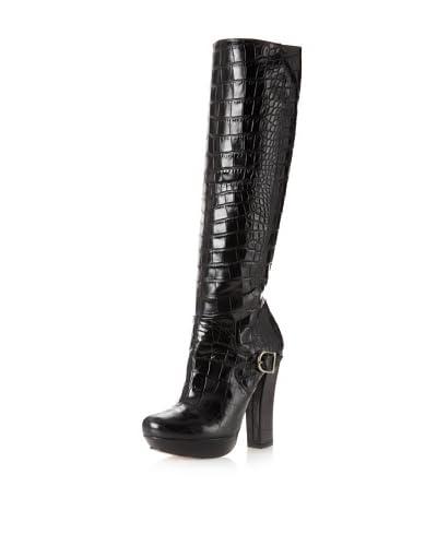 Pura López Women's Platform Boot  - Black