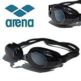 arena(アリーナ) くもりどめ・UV加工 度付 スイミングゴーグル+専用パーツセット AGL-4500×2-SET (-4.00) 近視用 フィットネス 競泳