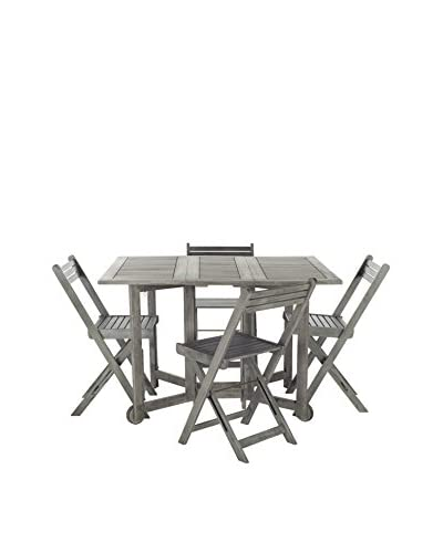 Safavieh Arvin Table And Set of 4 Chairs, Grey Wash