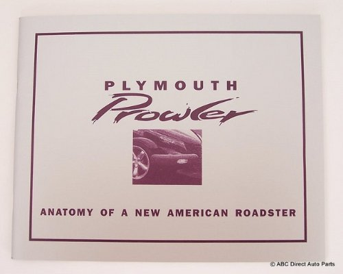 Plymouth Chrysler Prowler Concept Collectors Brochure Literture Book front-40296