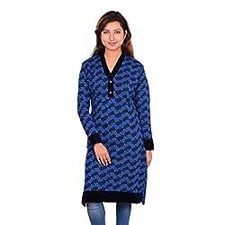 Nikky Fashion Women's Woolen Kurti (BLK666_Black_M)