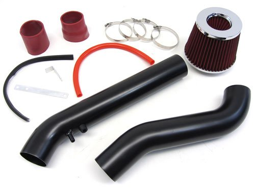 96 97 87 99 00 Honda Civic EX/HX Cold Air Intake Kit Red Filter Black Pipes (Civic Intake Kit compare prices)