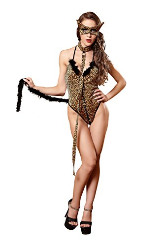 [Vivihoo EU627-Catwoman leopard lace dress, pole dancing stage performance clothing(M)] (Lovely Leopard Sexy Costumes)