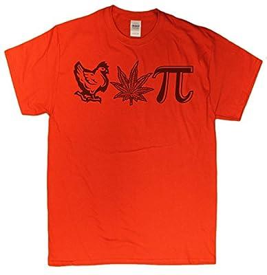 Men's Chicken Pot Pi Hilarious Nerdy Stoner T-Shirt