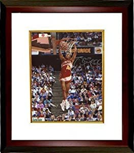 Spud Webb signed Atlanta Hawks 8x10 Photo Custom Framed (1986 Slam Dunk Champ side)