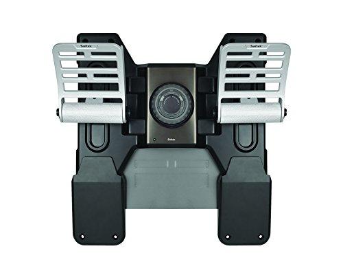 Saitek Pro Flight Combat Rudder Pédales en métal et caoutchouc spécial gaming noir et argent
