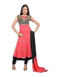 Sareeshut Women's Net Regular Fit Anarkali Suits - B00WQYXJRY
