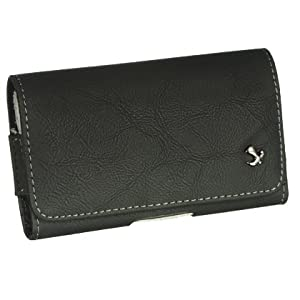 Genuine Black leather and high-quality construction Horizontal Carrying Pouch Case for T-Mobile Samsung Galaxy S II / i9100 / i777 / Samsung Nexus S / NXS / Samsung DROID CHARGE / I510 / Samsung i997 Infuse 4G Motorola XT865 Motorola DROID 3 / Motorola Droid Bionic Targa / XT875 / Motorola PHOTON 4G / MB855 /LG Revolution / Esteem / VS910 / MS910 / LG G2x / Optimus 2x / LG Thrill 4G / Optimus 3D HTC Thunderbolt / Incredible HD / 6400 / HTC Sensation 4G / HTC EVO 3D / HTC myTouch 4G Slide / HTC Inspire 4G (Free Microseven Logo Gift)