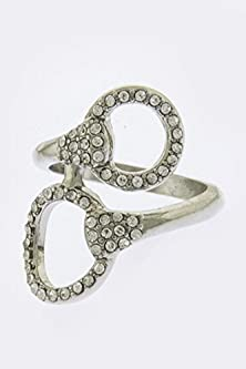 buy Baubles & Co Crystal Lined Buckle Accent Ring (Silver)