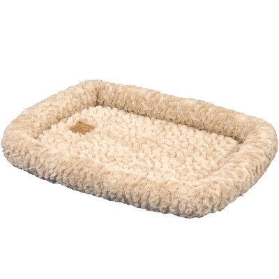 """Snoozzy Cozy Crate Donut Dog Bed Size: Extra Small (18"""" L X 14"""" W), Color: Natural front-981517"""