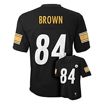 Antonio Brown Pittsburgh Steelers Black NFL Youth 2013-14 Season Mid-tier Jersey (Small 8)