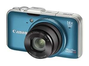 Canon PowerShot SX230 HS - Cámara Digital Compacta - 12.1 MP - GPS - Zoom óptico: 14x - memoria soportada: MMC, SD, SDXC, SDHC, MMCplus - Azul (importado)