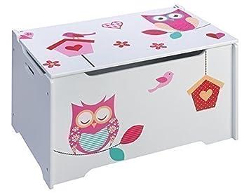 4uniq kinderspielzeugtruhe chouette coffre jouets en. Black Bedroom Furniture Sets. Home Design Ideas