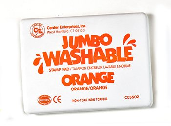 8 Pack CENTER ENTERPRISES INC. JUMBO STAMP PAD ORANGE WASHABLE