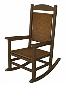 Poly-wood Presidential Woven Rocker Teak Frame Tigerwood from Polywood Furniture