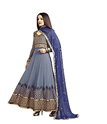 NIK CREATION Women's Georgette Semi-Stitched Heavy Embroidered Suits