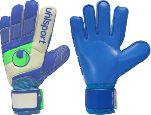 UHLSPORT FANGMASCHINE SOFT BLUE JUNIOR Goalkeeper Gloves uhlsport eliminator soft supportframe goalkeeper gloves