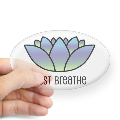 CafePress - Just Breathe Oval Sticker - Oval Bumper Sticker, Euro Oval Car Decal (Oval Decal compare prices)