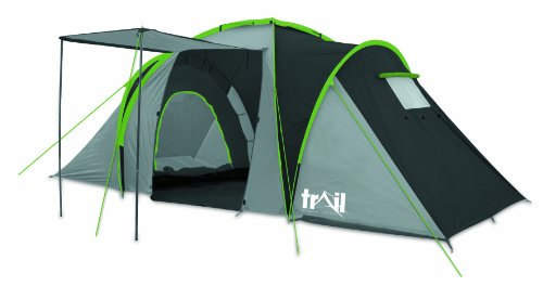 Trail Horizon Unisex 4 Man Family Tent - Grey