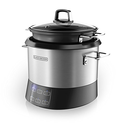 Best Price BLACK+DECKER RCR520S All-in-One Cooking Pot, 20-Cup Cooked/10-Cup Uncooked Rice Cooker, S...