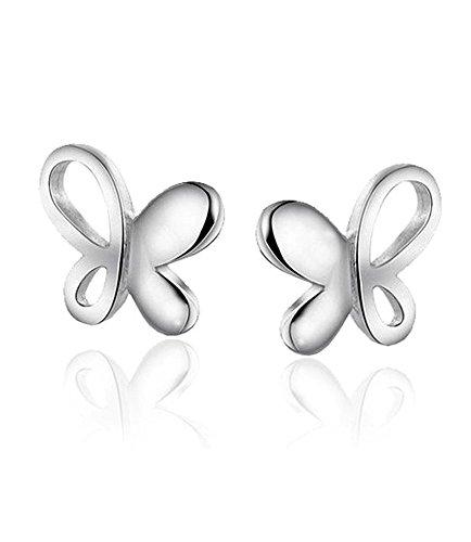 Pendientes de Mariposas en Plata Esterlina