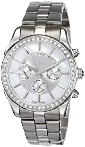 JBW Women's J6279C 22 Diamonds Oversized Metal Band Watch
