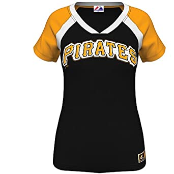 Majestic Ladies Plus Size Pittsburgh Pirates Forge T by Majestic