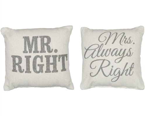 Mr. Right & Mrs. Always Right Pillow Set