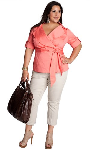 Sales IGIGI by Yuliya Raquel Plus Size Exceptionnelle Jacket in Coral