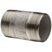 Stainless Steel 316/316L Pipe Fitting, Nipple, Schedule 40, Seamless, NPT Male