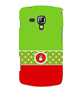Green Owl 3D Hard Polycarbonate Designer Back Case Cover for Samsung Galaxy S Duos S7562