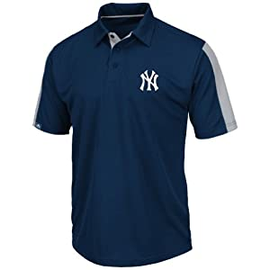 New York Yankees Majestic MLB Career Maker Performance Polo Shirt by Majestic