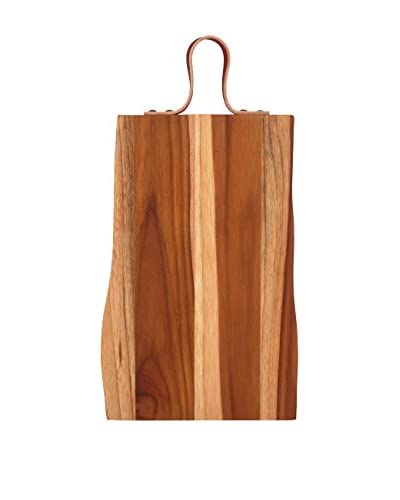 Pacific Merchants 17 Teak Serving/Cutting Board with Leather Strap
