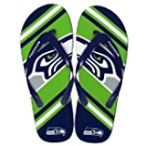 Seattle Seahawks 2013 Official NFL Unisex Flip Flop Beach Shoes Sandals slippers size Medium at Amazon.com