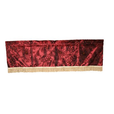 "Silky Bloom 60"" X 15"" Window Valance - Burgundy"
