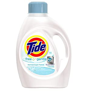 Tide Free And Gentle He Liquid Laundry Detergent 100 Fl Oz (Pack of 4)