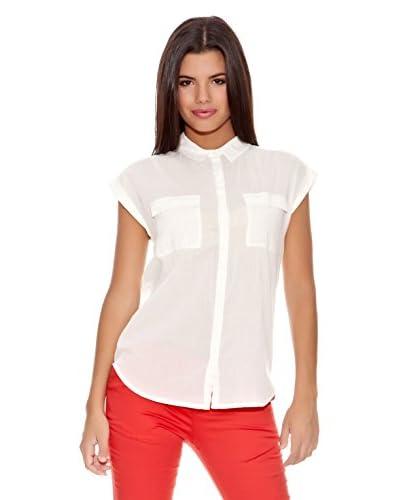 Springfield Camisa Basic Trendy Cotton Blo Blanco
