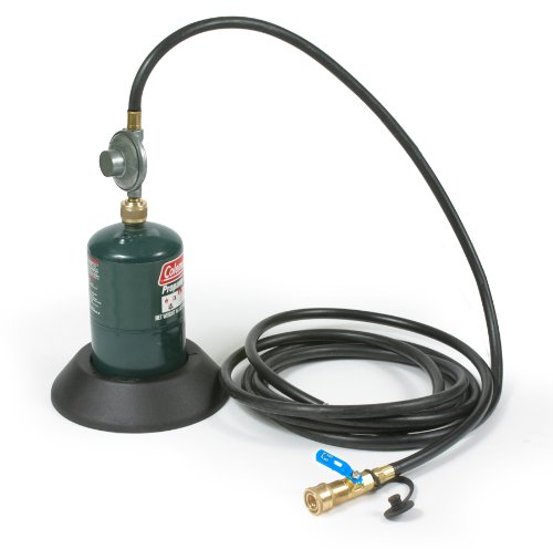 Camco 57628 6' Hose with Regulator and Female Quick-Connect and Stabilizing Base