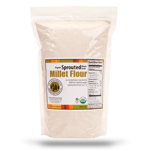 5lb. 100% Whole Grain, Organic, Sprouted Millet Flour by To Your Health Sprouted Flour Co.