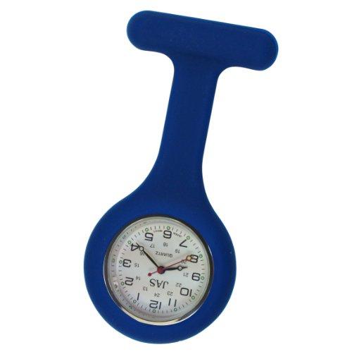 Jas Unisex Nurses Lapel Watch Silicone (Infection Control) Navy Blue