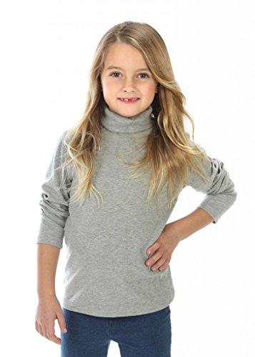 high5 Little Girls solid Color Turtleneck 100% Cotton Size 3 Grey