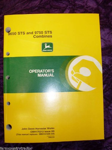 John Deere 9650 STS/9750 STS Combines OEM OEM Owners Manual