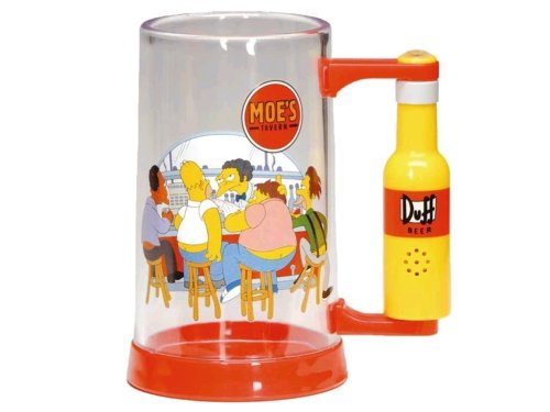 "Unitedlabels AG 0804199 The Simpsons - Bicchiere da birra parlante ""Mhm, Beer"""