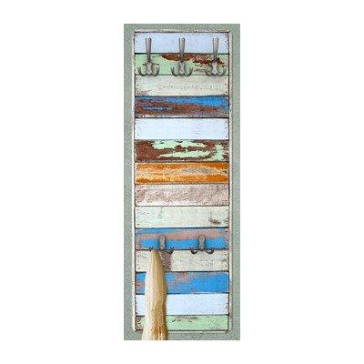 Apalis-79483-Wandgarderobe-Shelves-of-the-Sea-natura-Holz-Maritim-Flur-Haken-Edelstahl-Holzbild-Wandpaneel-Design-Bro