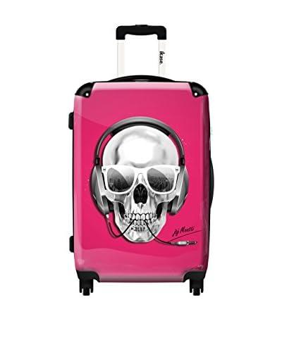 Ikase 24 Skull DJ Pink Rolling Luggage, Multi