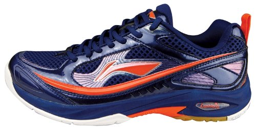 New Li-Ning Pro Indoor Mens Leather Boot Badminton Footwear Tennis Squash Shoes
