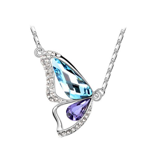 Breaking Cocoon Butterfly Pendant Necklace w/